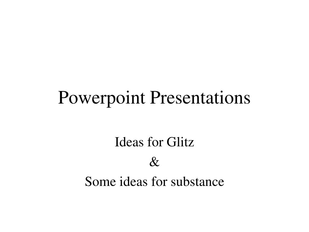 powerpoint presentations l.