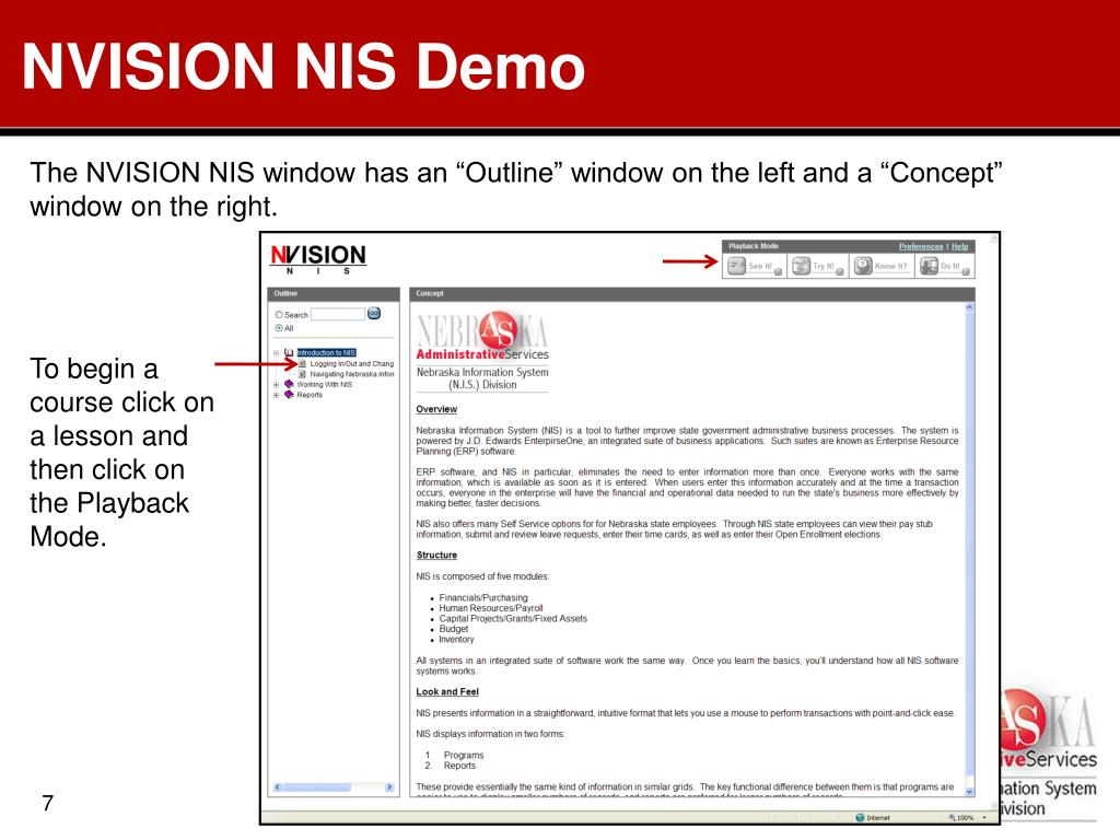 NVISION NIS Demo