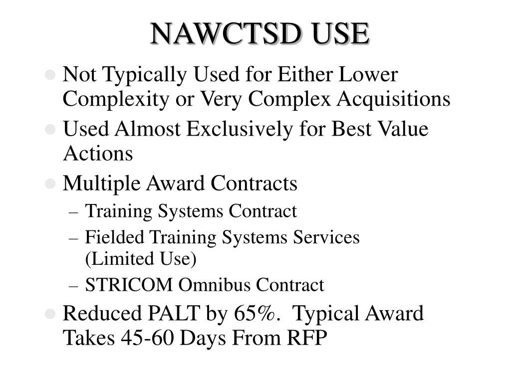 NAWCTSD