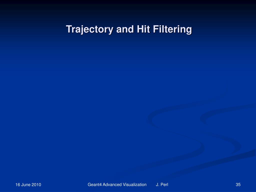 Trajectory and Hit Filtering