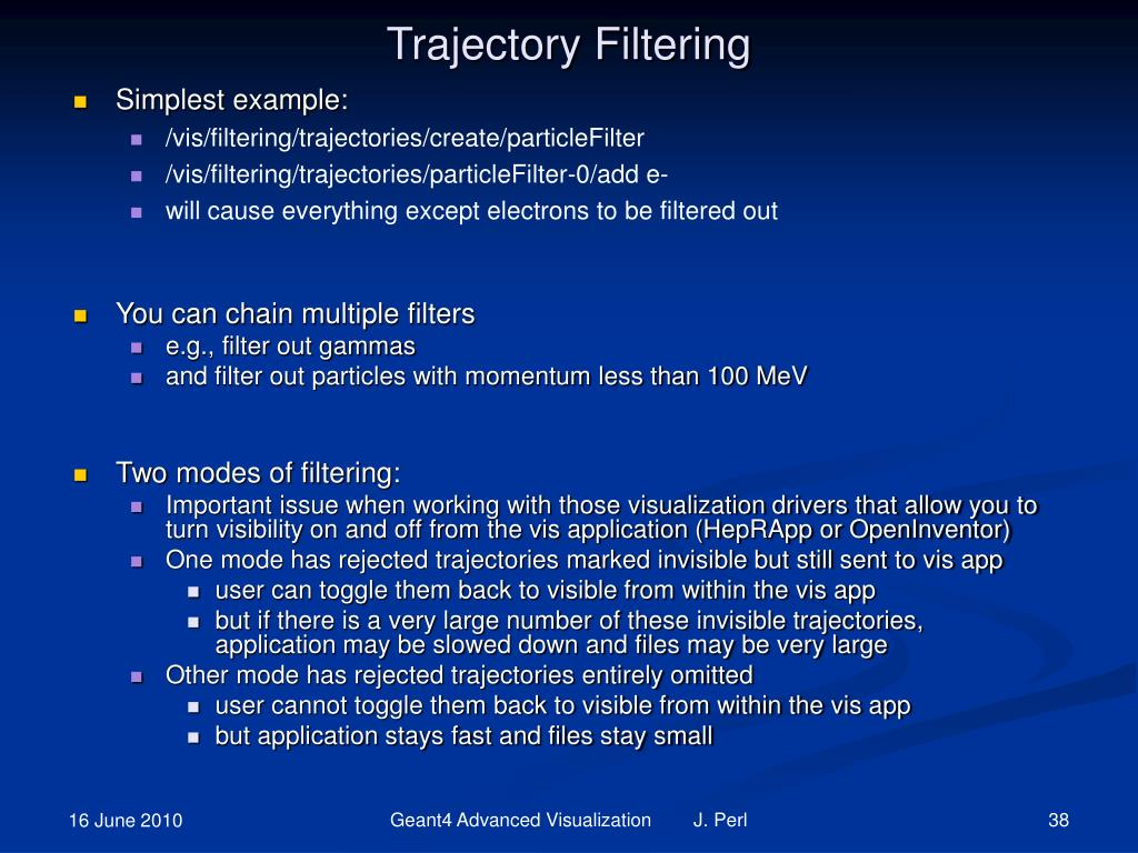 Trajectory Filtering