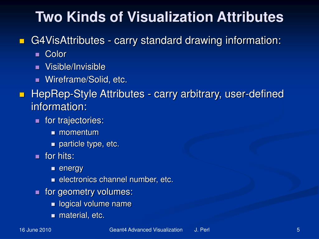 Two Kinds of Visualization Attributes