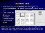 bulleted lists