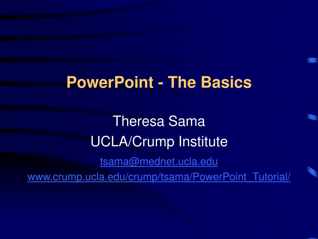 powerpoint the basics l.