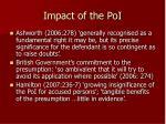 impact of the poi
