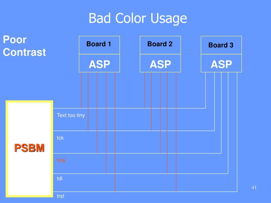 Bad Color Usage