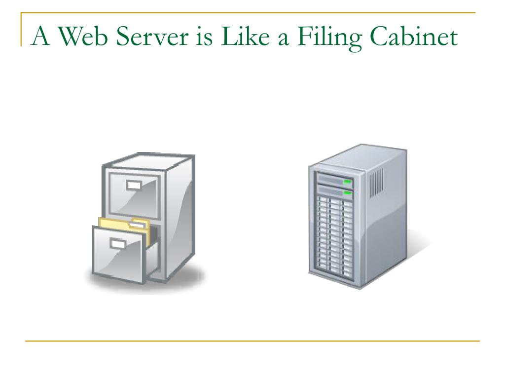 A Web Server is Like a Filing Cabinet