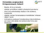 christelijke zorgboerderij krimpenerwaard hollanti