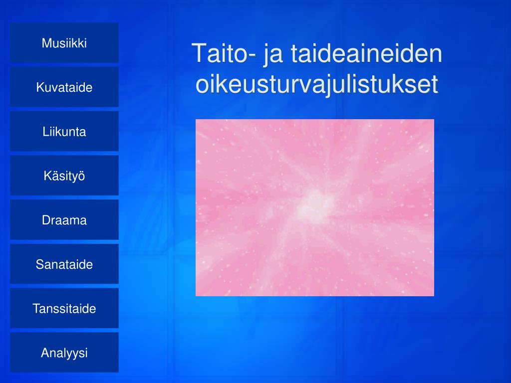 taito ja taideaineiden oikeusturvajulistukset l.