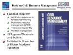 book on grid resource management