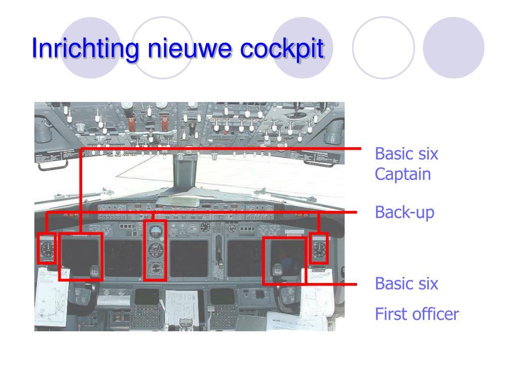 Inrichting nieuwe cockpit