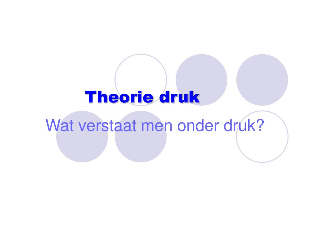 Theorie druk