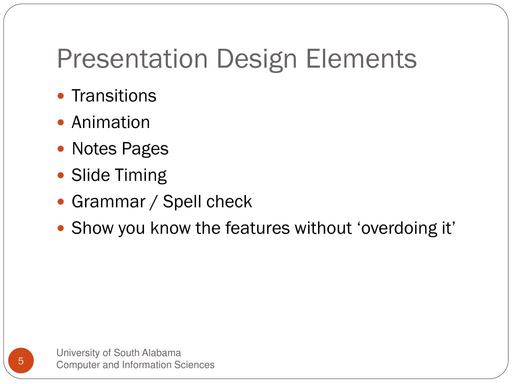 Presentation Design Elements