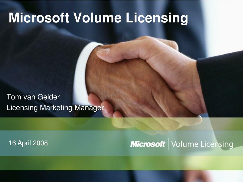 microsoft volume licensing l.