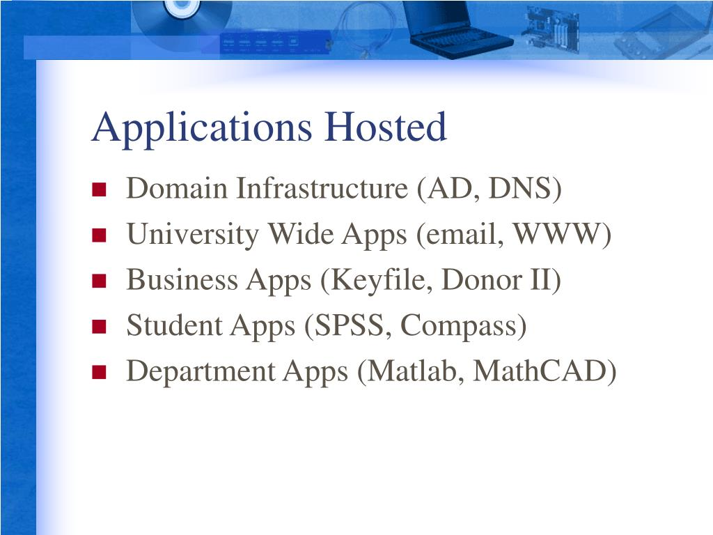 Applications Hosted