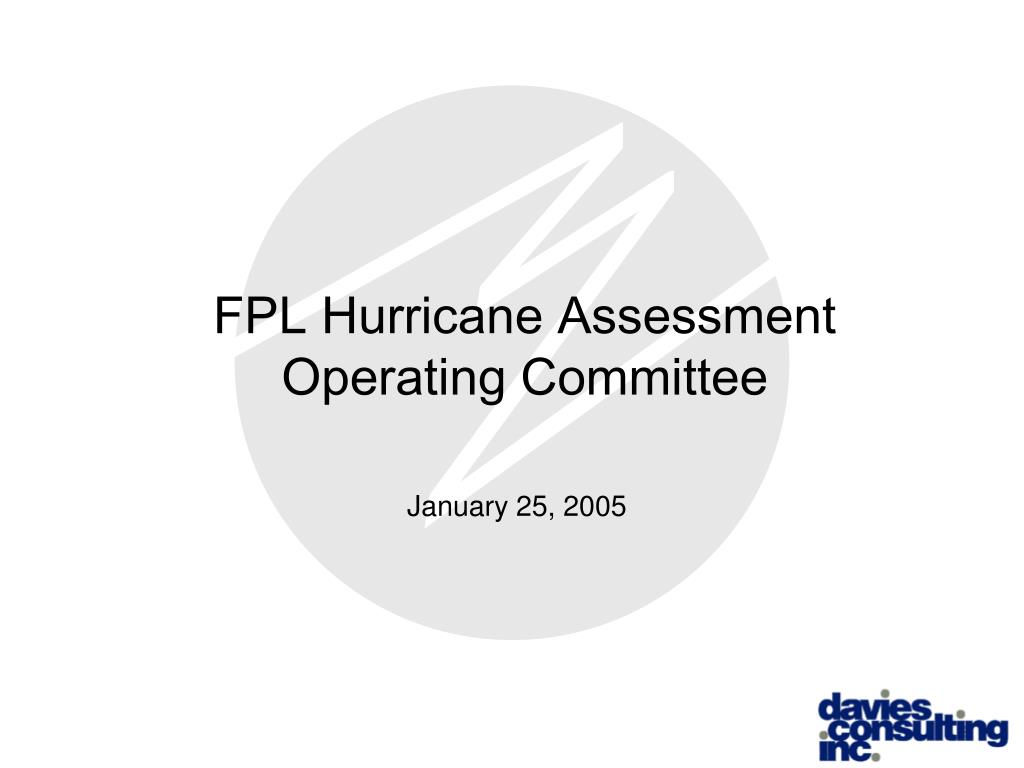 fpl hurricane assessment operating committee l.