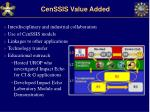 censsis value added