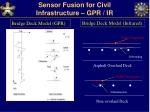 sensor fusion for civil infrastructure gpr ir