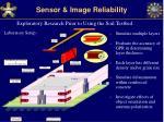 sensor image reliability12