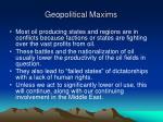 geopolitical maxims