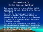 pseudo peak oil all the economy will bear
