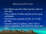 world and us oil use