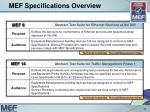 mef specifications overview12