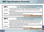 mef specifications overview15