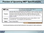 preview of upcoming mef specifications22