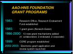 aao hns foundation grant programs