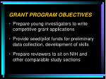 grant program objectives