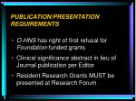 publication presentation requirements