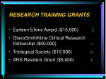 research training grants