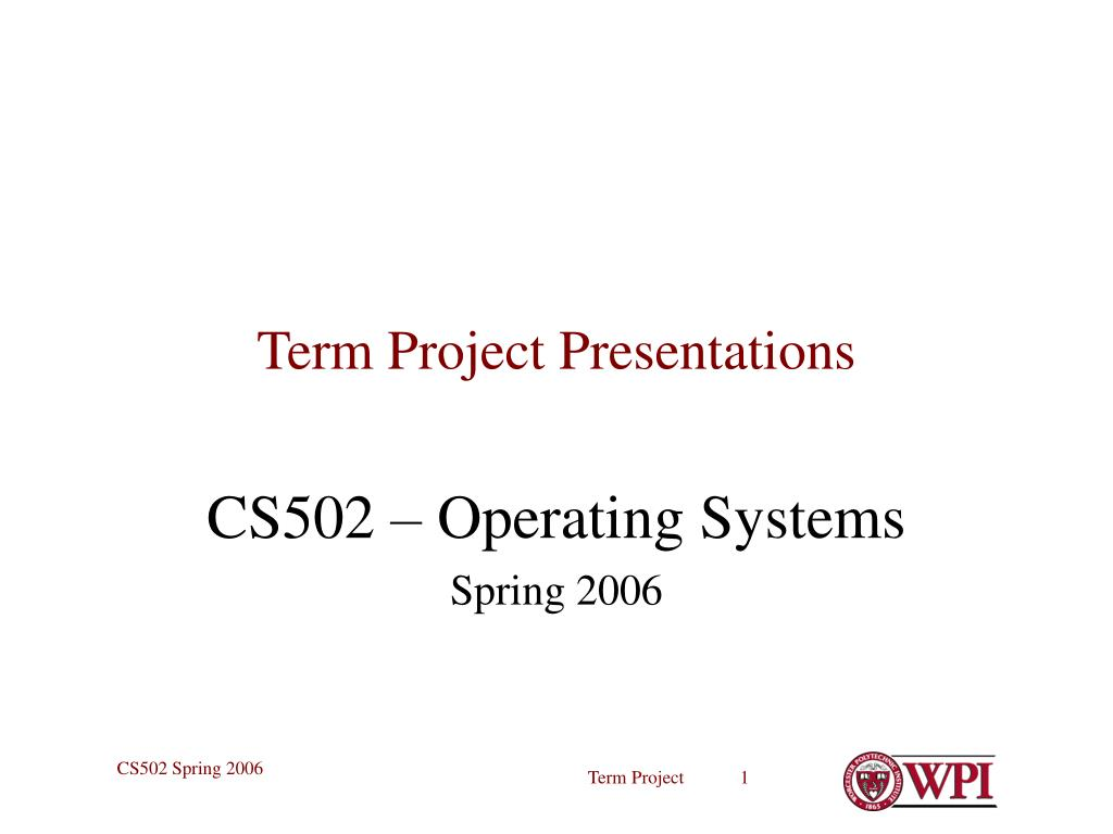 term project presentations l.
