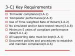 3 c key requirements