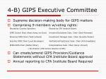 4 b gips executive committee