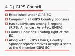 4 d gips council