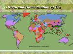origin and domestication of tea1