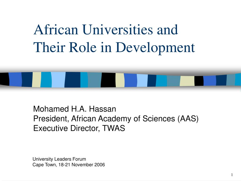 african universities and their role in development l.