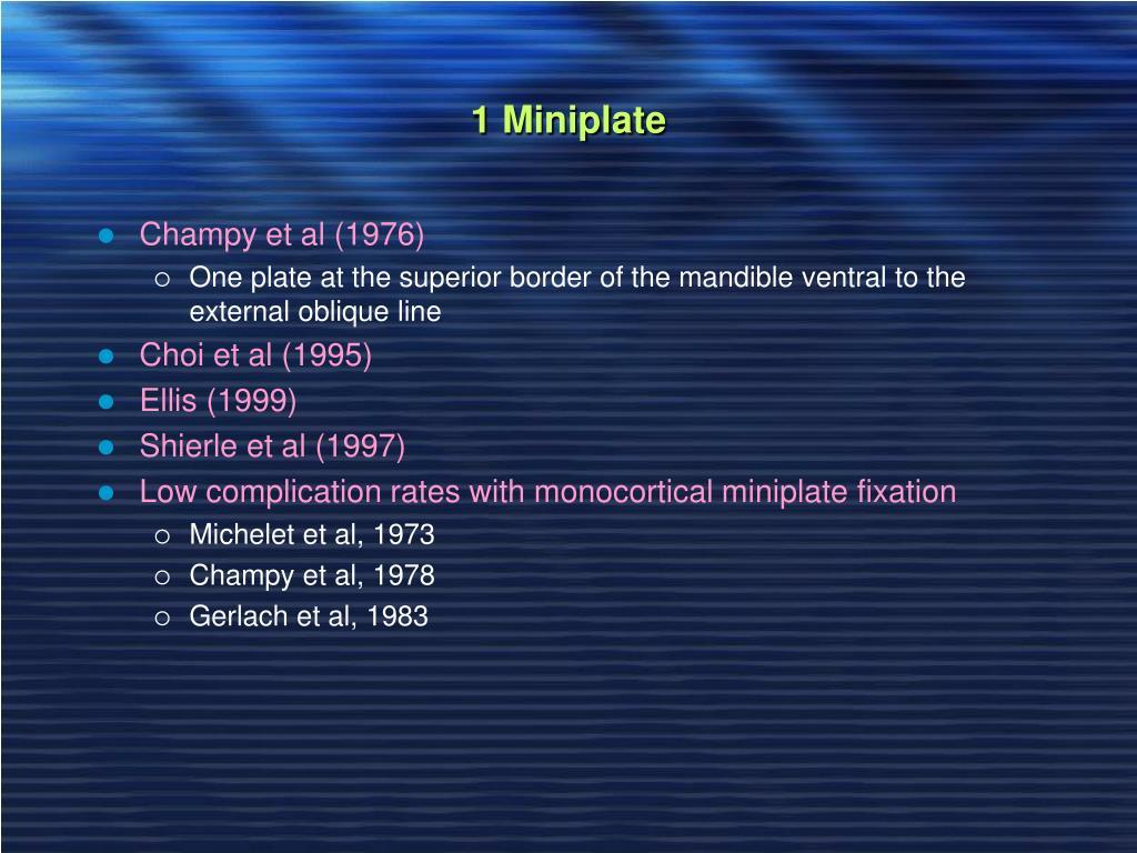 1 Miniplate