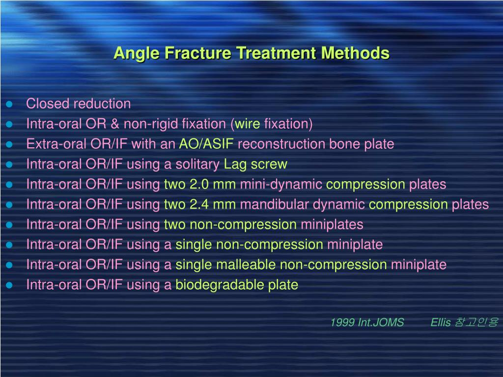 Angle Fracture Treatment Methods