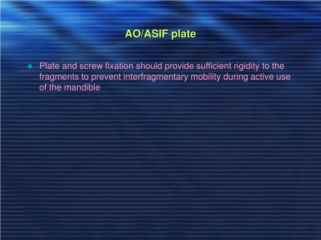 AO/ASIF plate