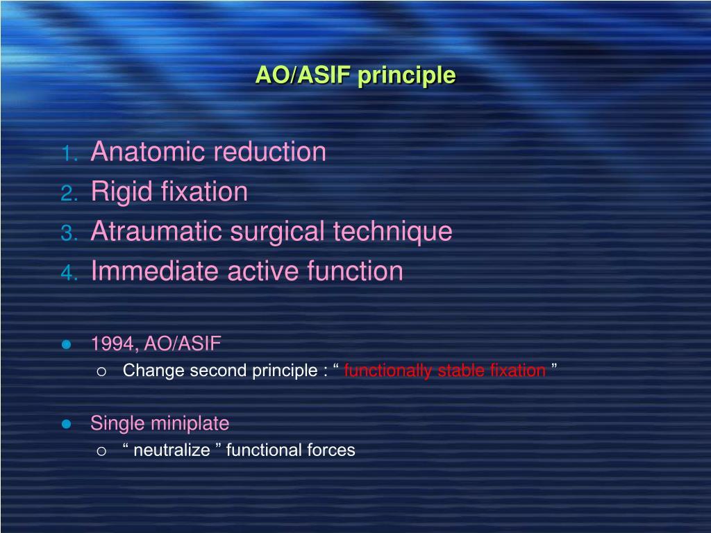 AO/ASIF principle