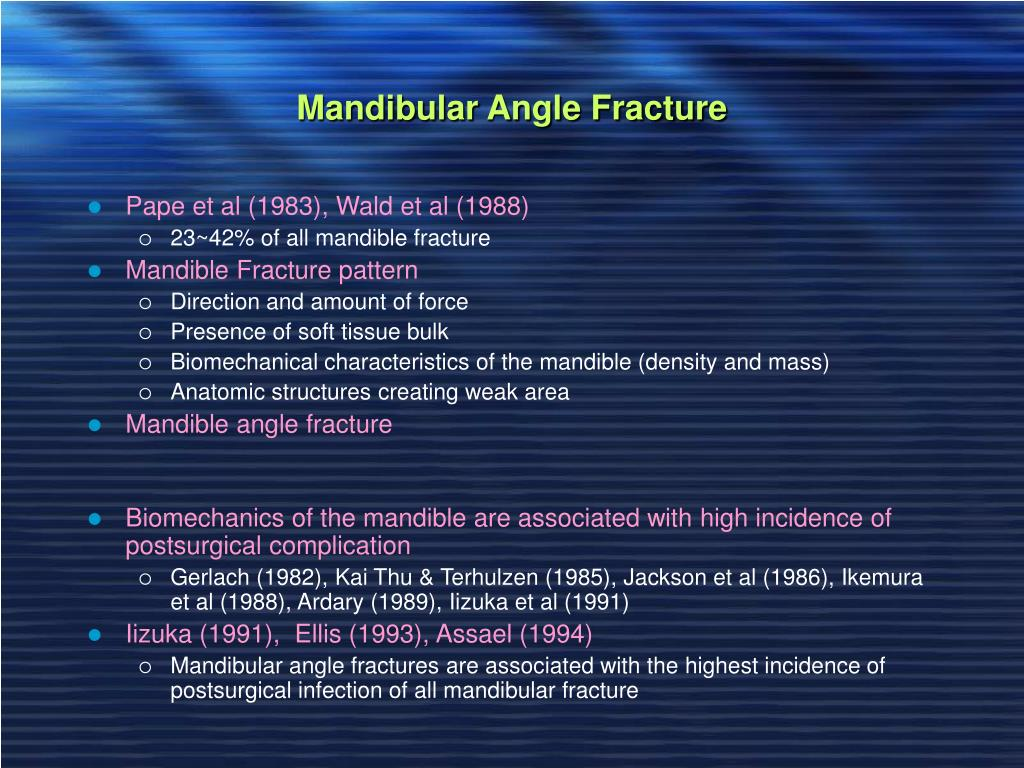 Mandibular Angle Fracture