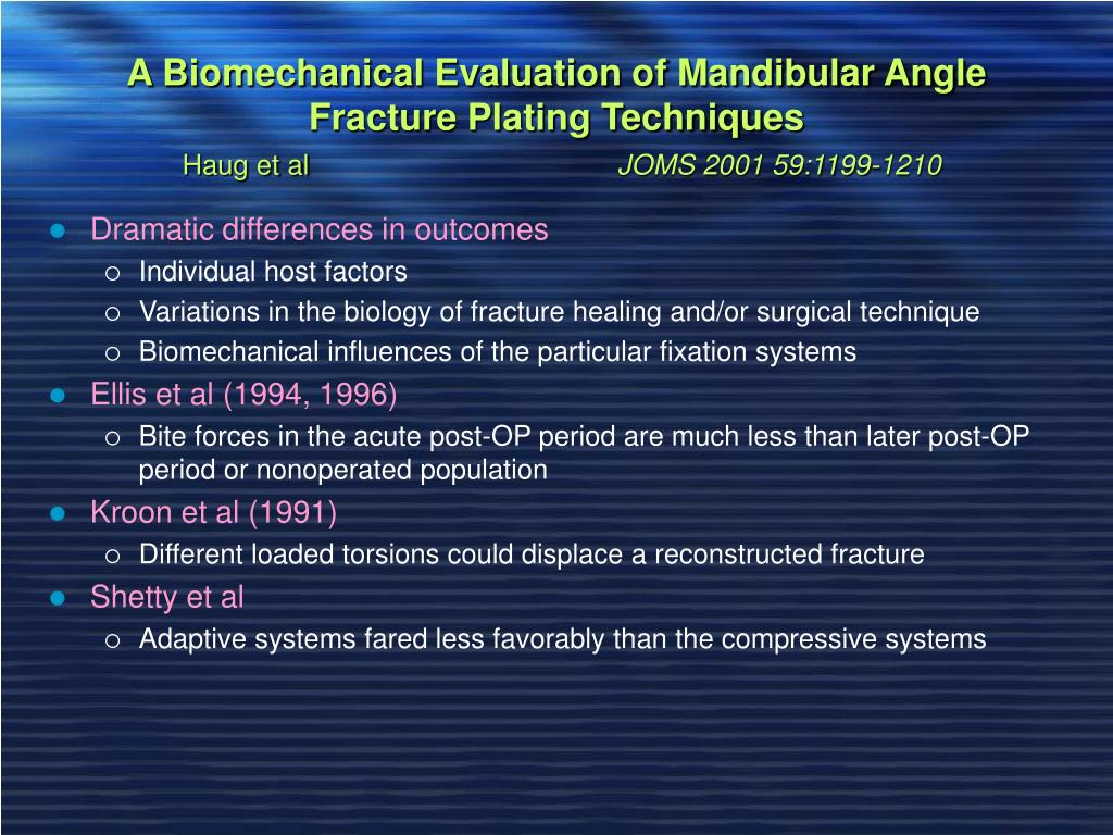 A Biomechanical Evaluation of Mandibular Angle Fracture Plating Techniques