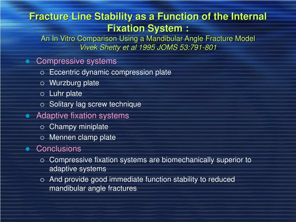 Fracture Line Stability as a Function of the Internal Fixation System :