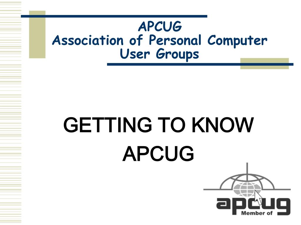 apcug association of personal computer user groups l.