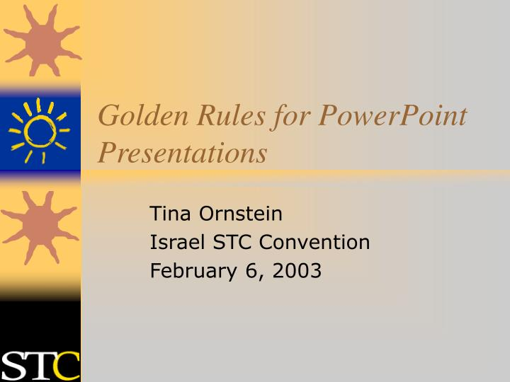 golden rules for powerpoint presentations n.