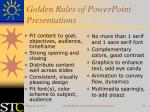 golden rules of powerpoint presentations39