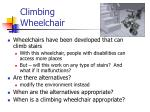 climbing wheelchair
